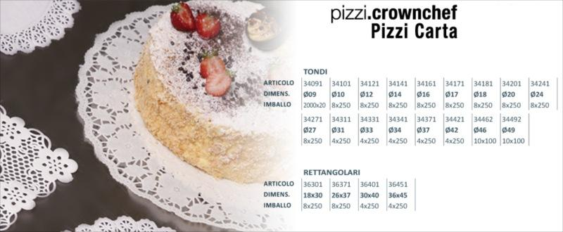 Cf.250 pizzi rett. 30/40 crown chef carta promo