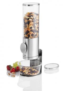 Dispenser cereali con supporto deposito inox cm 15x42,5 l1,5
