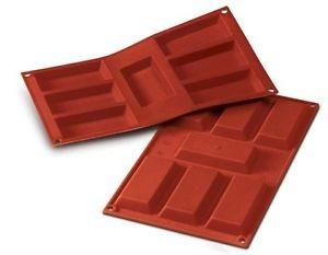 Sf054 - stampo in silicone n.7 big financiers 95x45 h 12 mm terracotta
