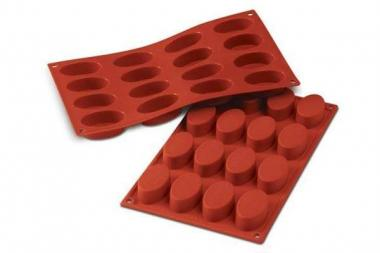 Sf017 - stampo in silicone n.16 small ovals 55x33 h 20 mm terracotta