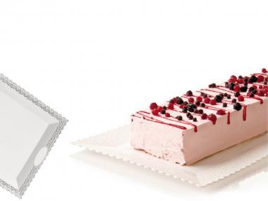 Vassoio bancone tender bar pasticceria per esposizione dolci in acciaio inox
