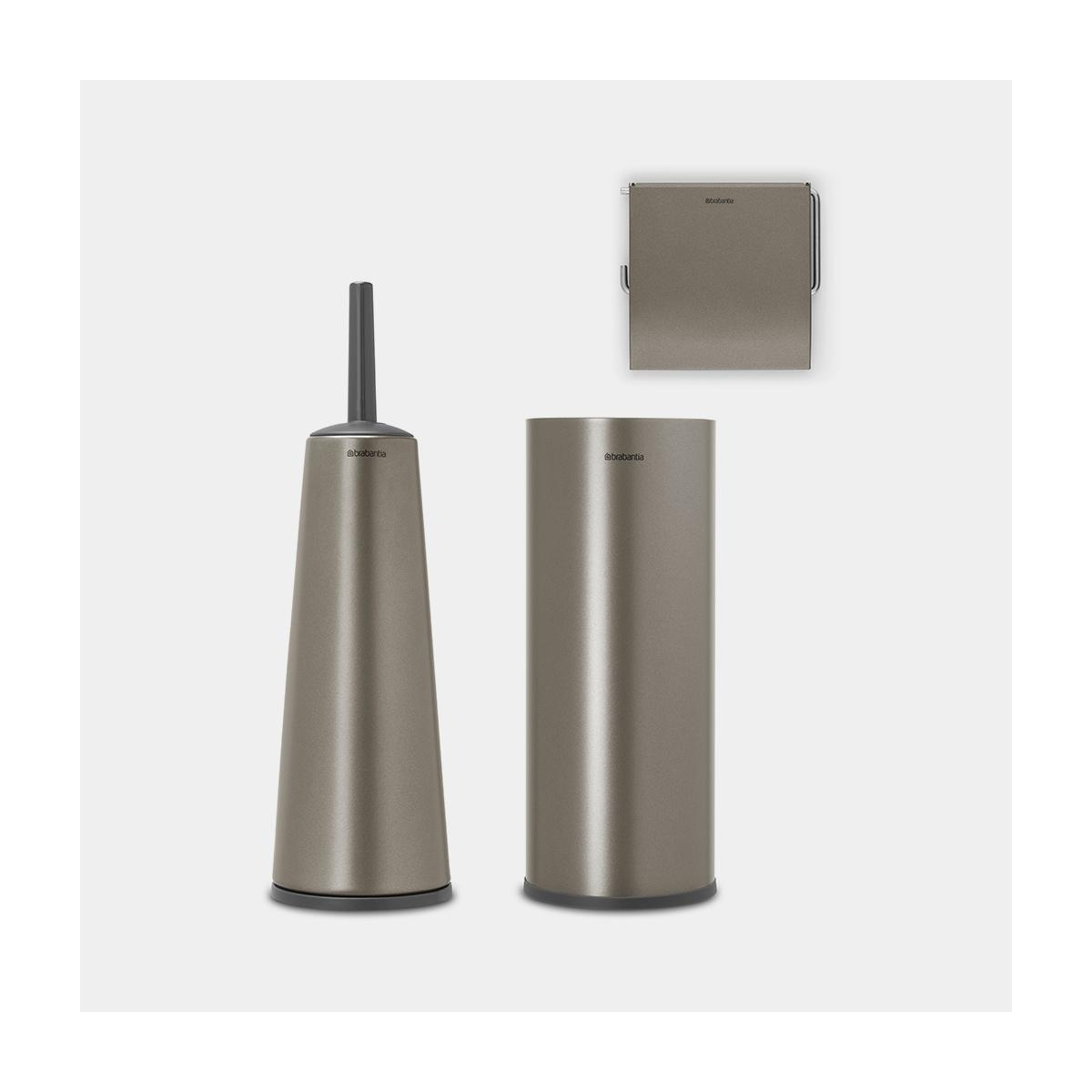 Set 3 accessori toilette renew - platinum
