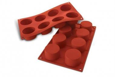 Sf028 - stampo silicone n.8 cylinders Ø60 h 35 mm terracotta
