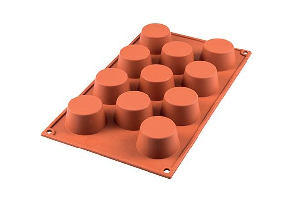 Sf022 - stampo in silicone n.11 small muffins Ø51 h 28 mm terracotta